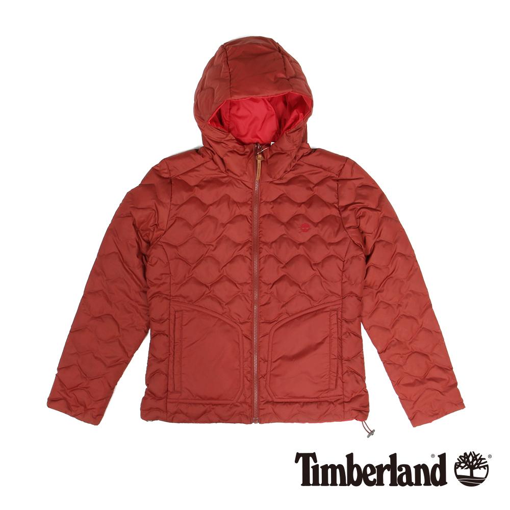 Timberland 女款紅色雙面輕量羽絨夾克外套