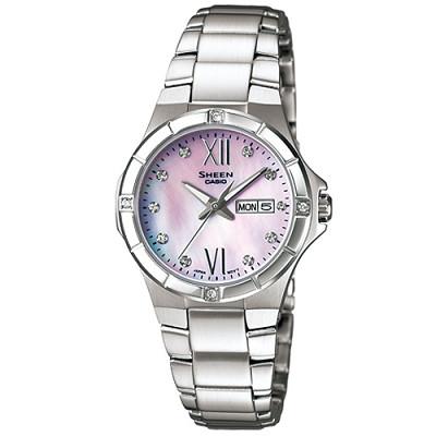 SHEEN 羅馬很浪漫施華洛世奇水晶腕錶(SHE-4022D-4A)-粉/29.3mm