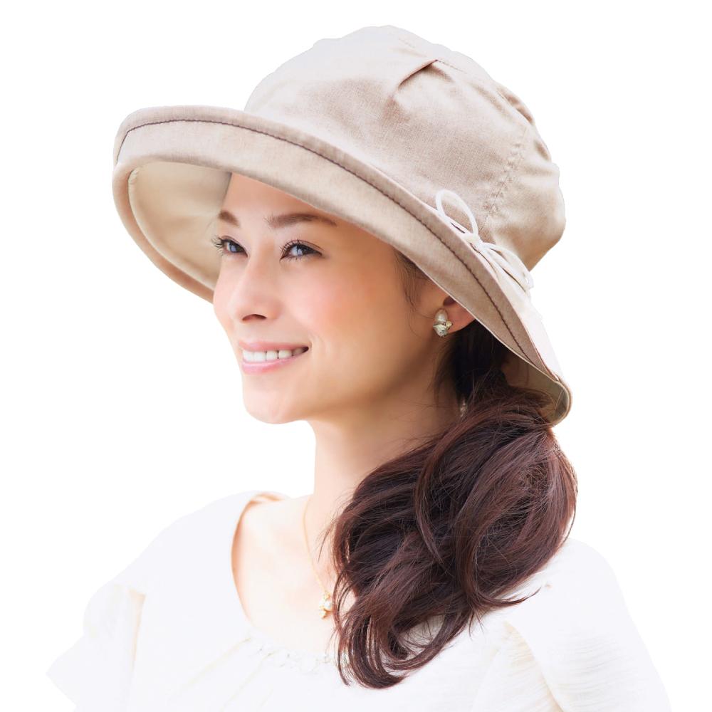 日本COGIT 3D拱型蝴蝶結小顏帽(摩卡)