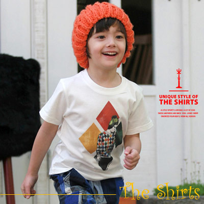 【The Shirts】彩色方塊個性短袖T恤 (共二色)