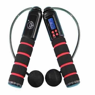 PUSH!休閒運動用品  有氧運動有線無線兩用跳繩 加重設計卡路里跳繩