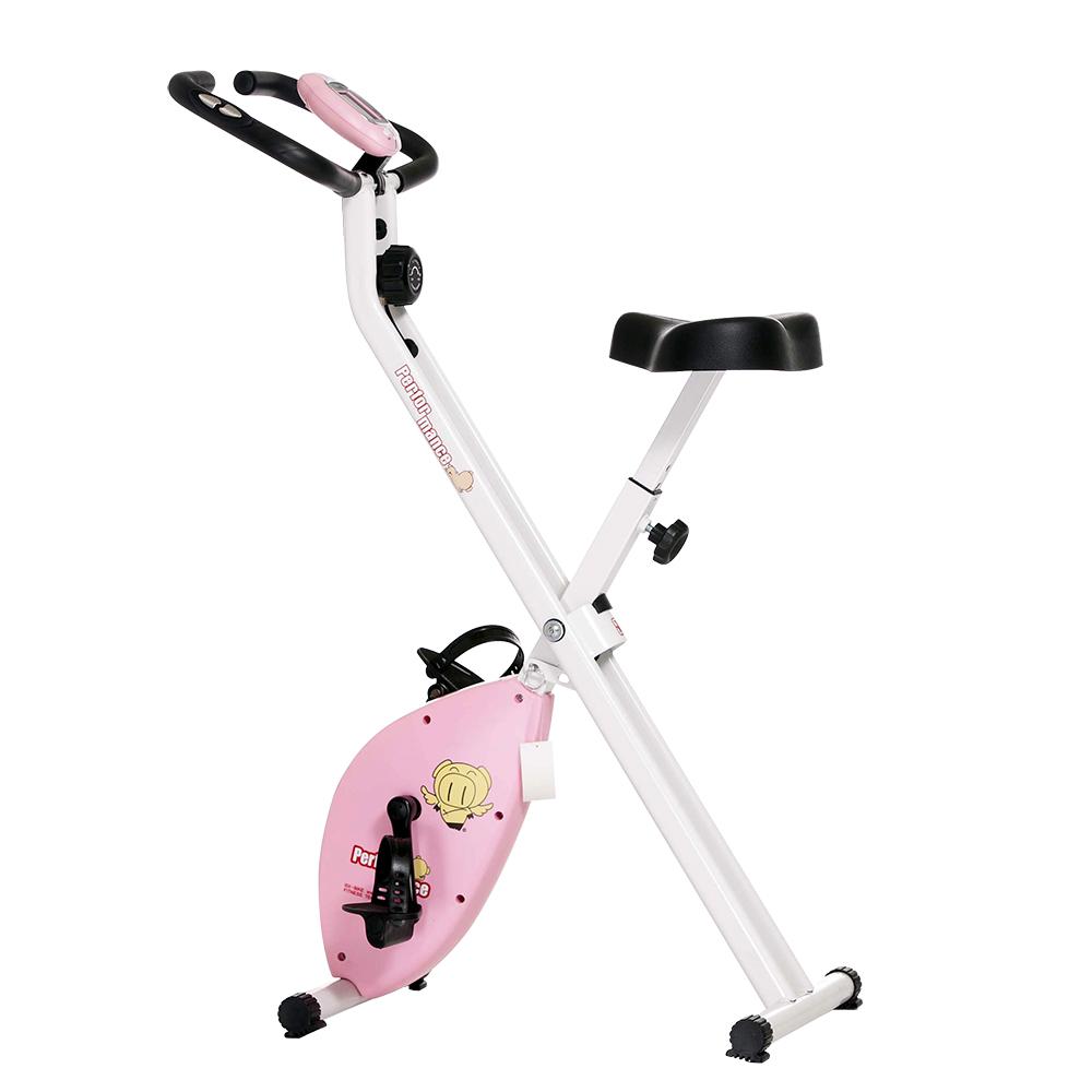 【 X-BIKE 晨昌】磁控健身車 31公分超大座墊 台灣精品 19807 -  粉紅色
