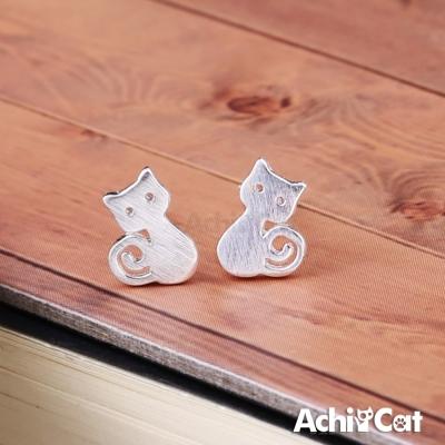 AchiCat 925純銀耳環 可愛貓星人