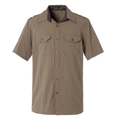 hilltop山頂鳥-男款吸濕快乾短袖襯衫S06M