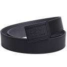 EMPORIO ARMANI EA7經典品牌圖騰LOGO壓印雙色牛皮腰帶(黑/灰)