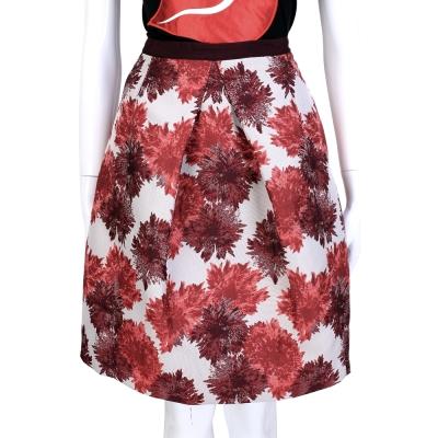 MAX MARA-WEEKEND 紅花抓褶設計及膝裙