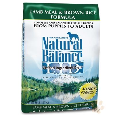 Natural Balance 低敏羊肉糙米配方犬糧4.5磅