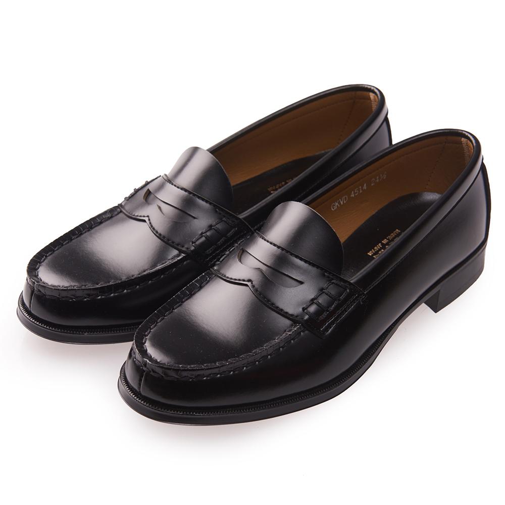 (女)日本 HARUTA 復古經典4514便士皮鞋-黑色 @ Y!購物