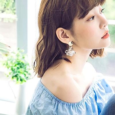 輕奢質感水晶片耳環-OB大尺碼