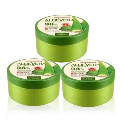 Organia歐格妮亞 蘆薈98%舒緩保濕凝膠300gx3入