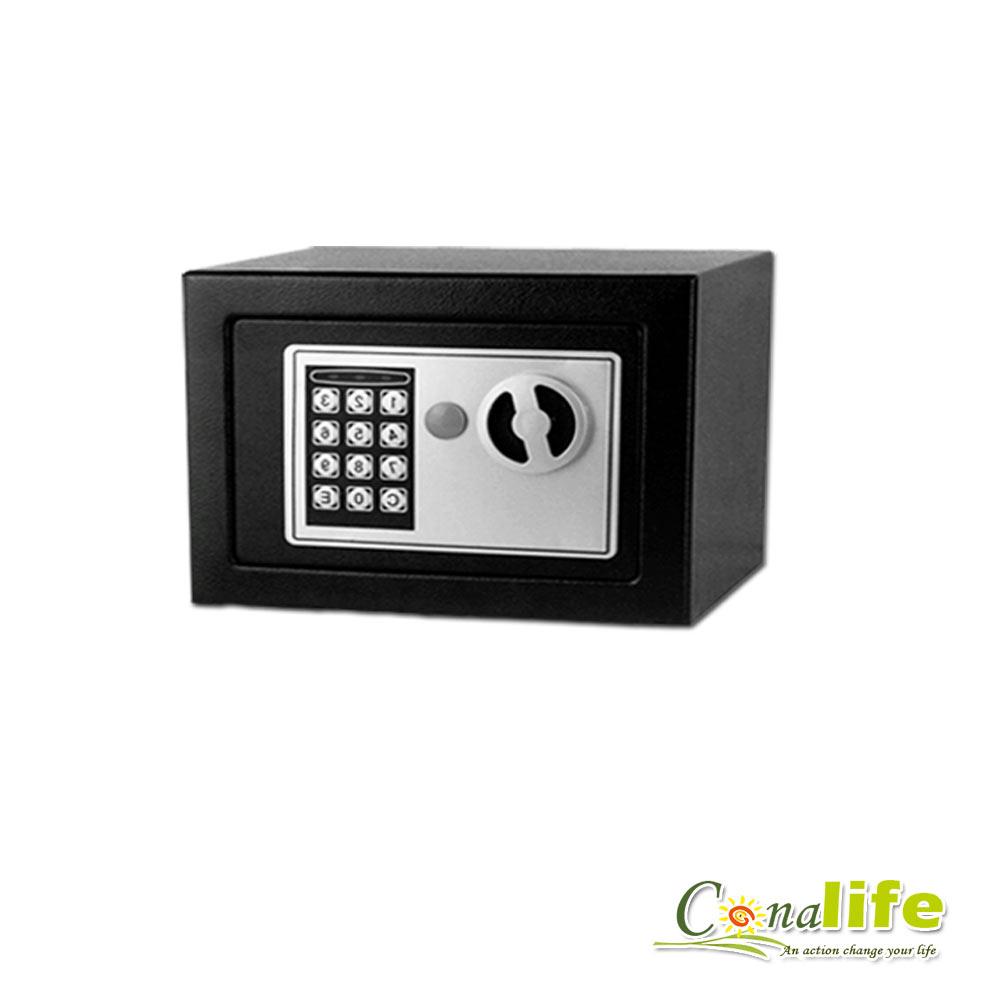活動Conalife迷你電子防盜保險箱攜帶型-黑