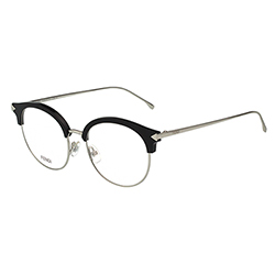 FENDI  復古眉框圓框 光學眼鏡 (銀色)FF0165