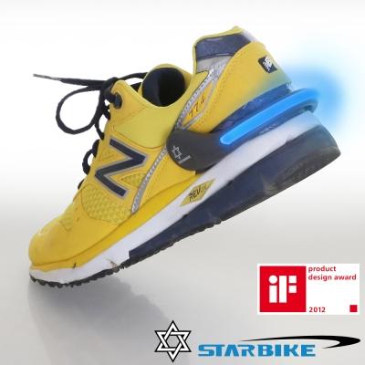 STARBIKE 安全警示運動發光環(藍) 兩入組