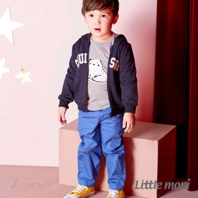 Little moni 鬆緊腰綁帶平織長褲 (共2色)
