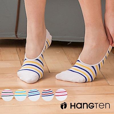 【HANG TEN】設計款隱形襪4雙入組_條紋_女(HT-A11009)_6色隨機出貨