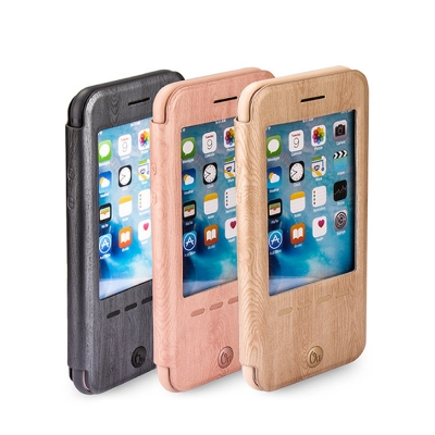 Oucase Apple iPhone 6/6S 睿智木紋皮套