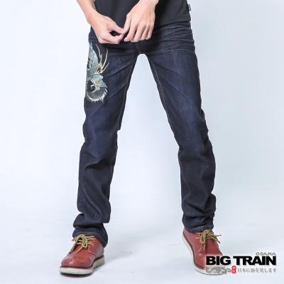 BIG TRAIN 墨達人蟠龍小直筒-男-深藍