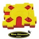 瑞典Nina Ottosson狗狗益智玩具-狗狗混很大拼拼樂(高階/鮮黃+鮮紅)