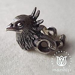 Marship 日本銀飾品牌 火鳥戒指 925純銀 古董銀款