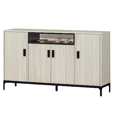 品家居 亞曼達5.1尺木紋餐櫃下座(二色可選)-151.5x40x89cm免組