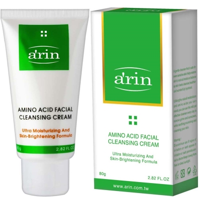 arin氧潤胺基酸亮白保濕潔顏霜 80g
