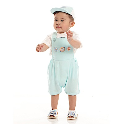 愛的世界 MYBABY 純棉小狗短袖背心褲3件組禮盒/6M~2歲
