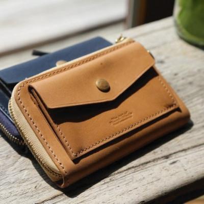 24MAMA- 真皮牛皮歐款客製 短夾 皮夾 皮包 鈔票夾 拉鍊 鑰匙包 零錢包