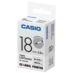 CASIO  標籤機專用特殊色帶-18mm(熱縮套管專用)白底黑字-XR-18HSWE1