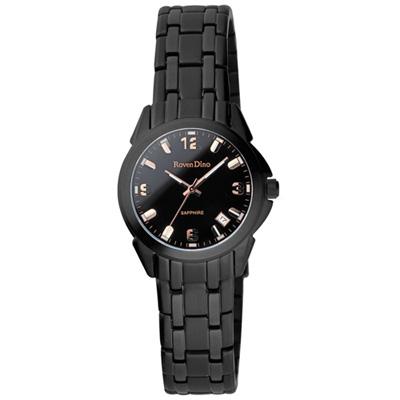 Roven Dino羅梵迪諾 成熟美學時尚腕錶-黑金/25mm