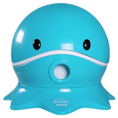 寶貝樂 可愛章魚幼兒馬桶學便器-藍色