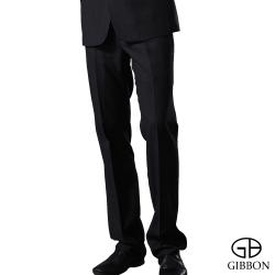 GIBBON 精簡條紋羊毛打摺西裝褲‧灰直條32~40