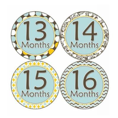 1-2歲專用-寶寶成長記錄妙衣貼-清新淺藍