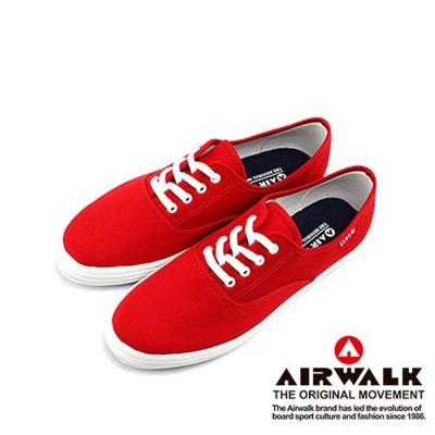 【美國 AIRWALK】繽紛一夏甜心女孩帆布鞋-女(熱情紅)