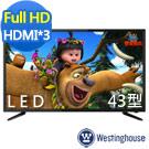 Westinghouse美國西屋 43吋 液晶電視附視訊盒 KE-43V02