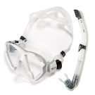 V.DIVE 威帶夫潛水精品組 (潛水面鏡+呼吸管) -B33E 白/灰