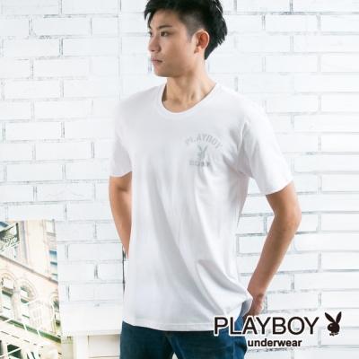 PLAYBOY 流行兔頭LOGO彩色內衣(白)
