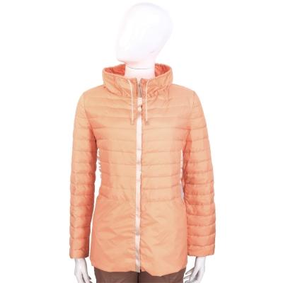 FABIANA FILIPPI 粉橘色束領設計羽絨外套