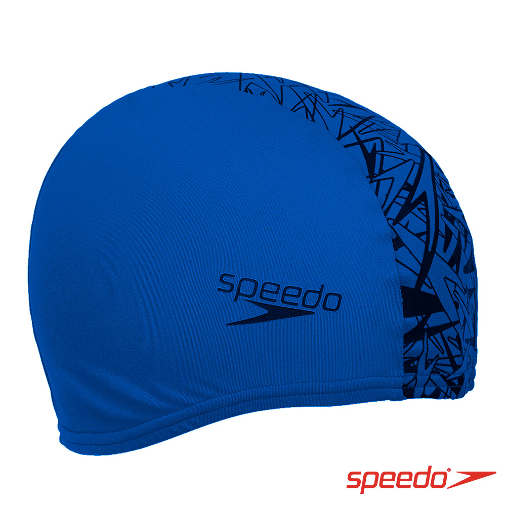SPEEDO 成人 尼龍泳帽 Boom Endurance+ 藍