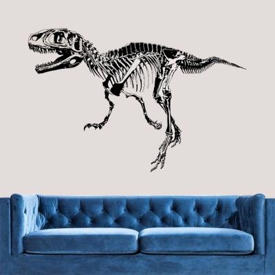E-014手繪動物系列-恐龍化石剪影 大尺寸高級創意壁貼 / 牆貼