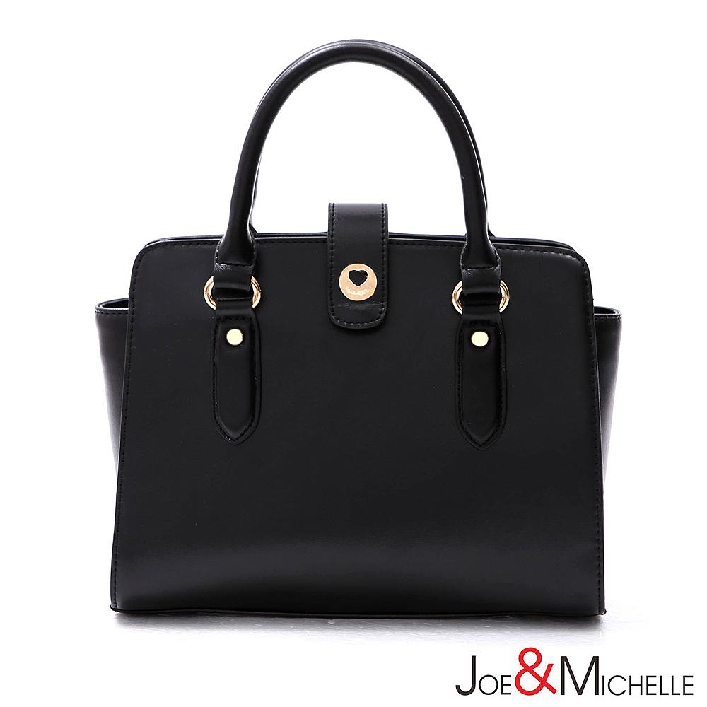 J&M 真皮凱瑟琳法式簡約兩用包 經典黑