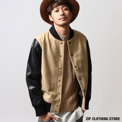 窄版身線棒球外套 ZIP日本男裝