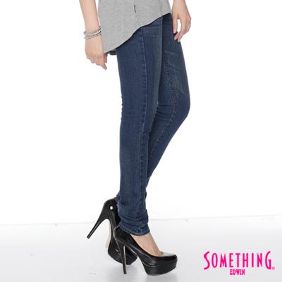 【SOMETHING】永恆閃爍 流星窄直筒牛仔褲-女款(拔洗藍)