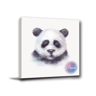 24mama掛畫-單聯無框圖畫藝術家飾品掛畫油畫-panda-40x40cm