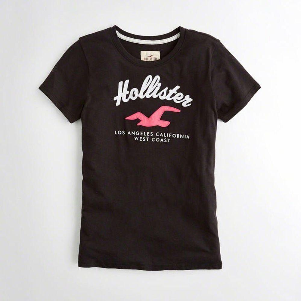Hollister HCO  女 短袖 T恤 黑 0345
