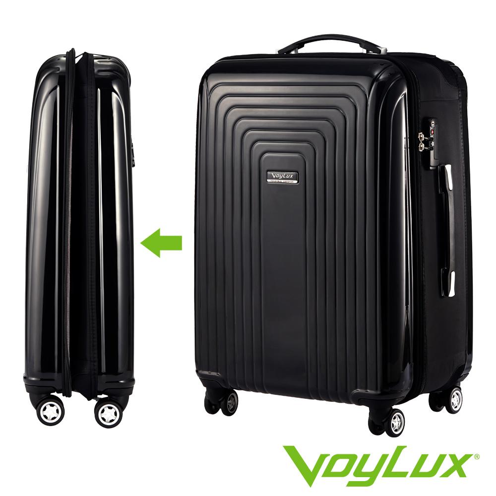 VoyLux伯勒仕-VERTICAL系列 26吋硬殼收摺專利八輪摺疊行李箱-黑色3789604