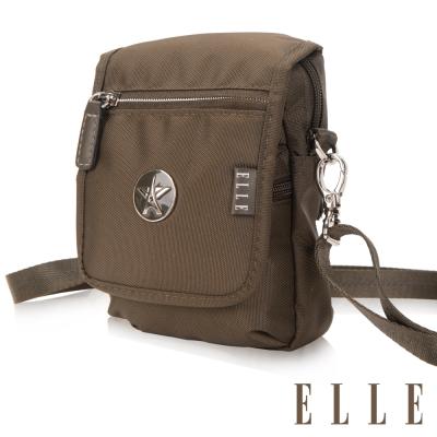 ELLE 法式優雅時尚 旅行隨身收納包/票券包/手機包-橄欖綠EL83473