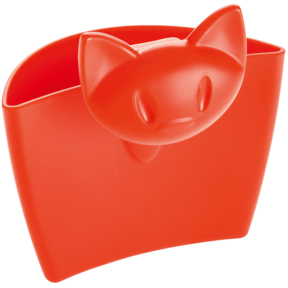 KOZIOL 貓咪茶包架(澄紅)