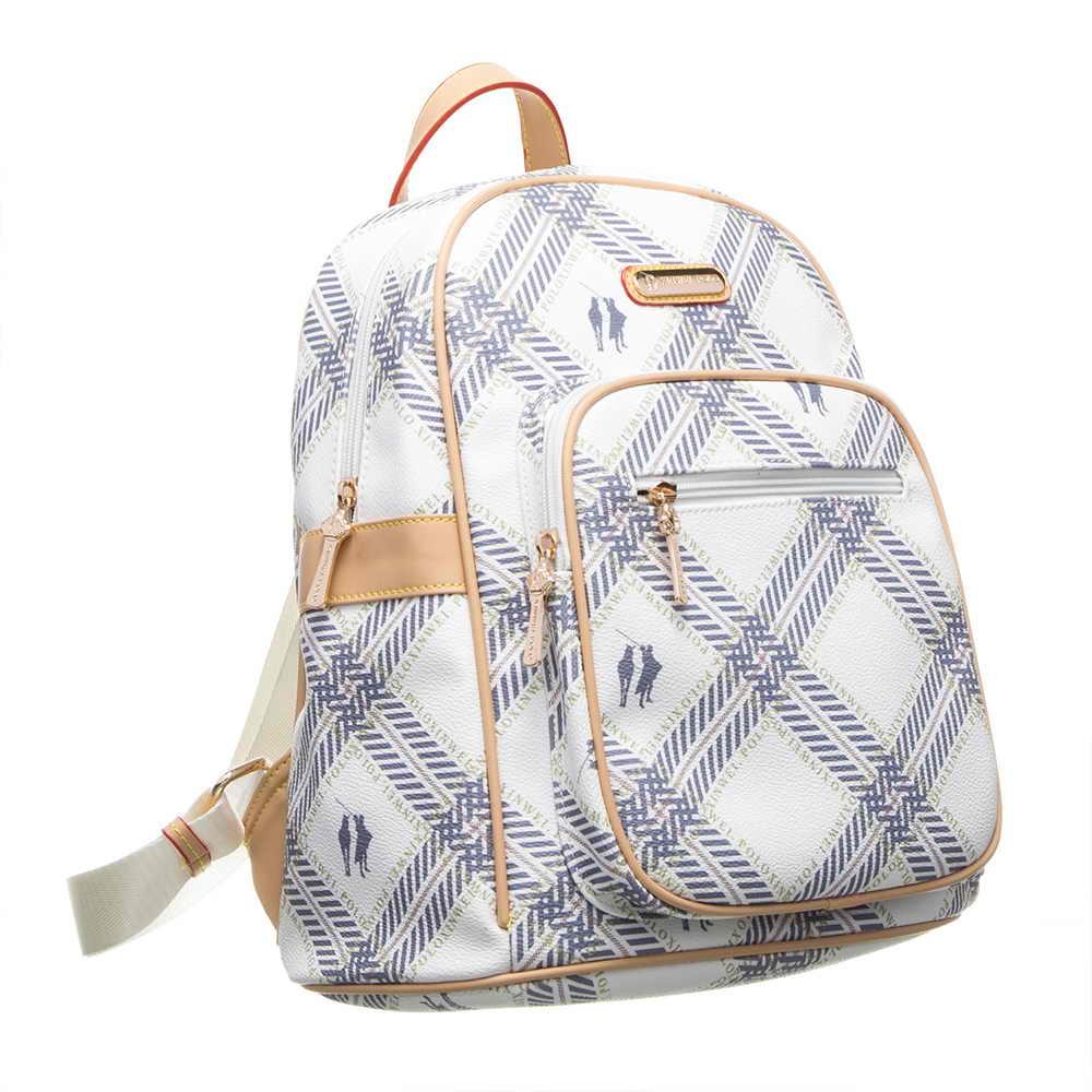 【XINWEI POLO】典雅美型大容量後背包-氣質白(141031)(快)