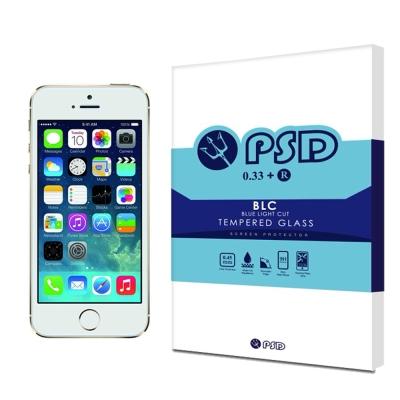PSD iPhone 5 5S/SE BLC抗藍光疏油疏水鋼化玻璃保護貼