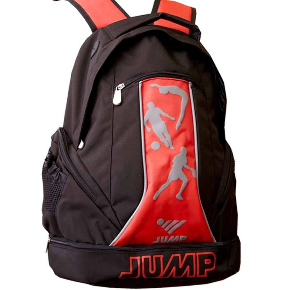 JUMP 將門 多功能休閒後背包(黑紅_JP6200)-快